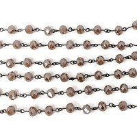 6MM Crystal White Peach Beading Chain